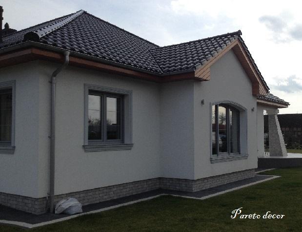 122 Meter Gesims G 12 Fassadenprofile Haus Fassade 6x15 Cm