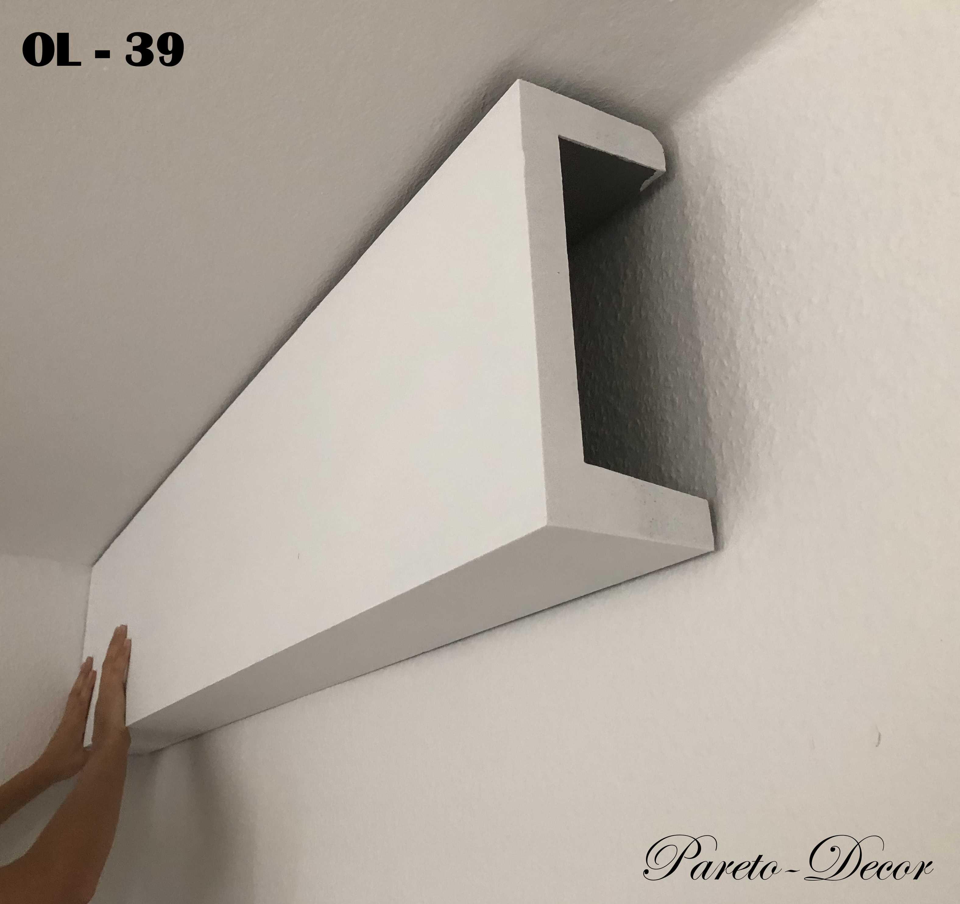 7 Meter LED Licht Bebauung Stuckleiste für indirekte Beleuchtung XPS OL-18